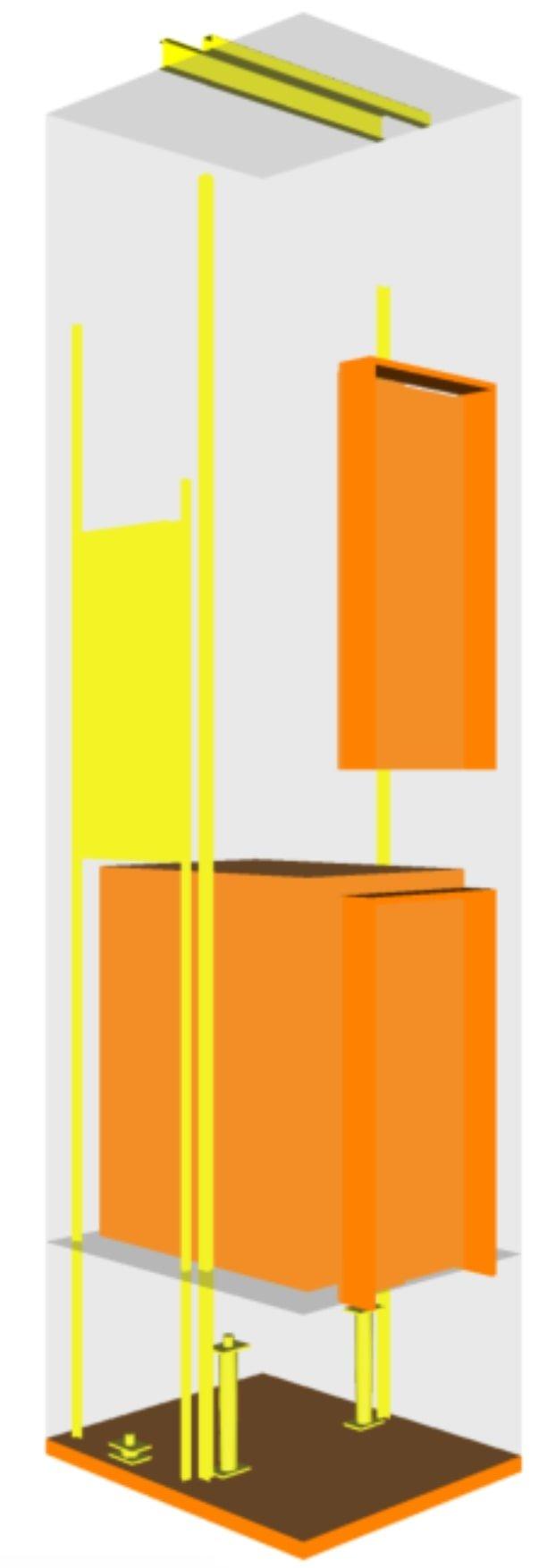 LoD 300 pour un ascenseur selon bim forum